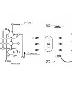 Смесител за вграждане с пита и подвижен душ ICL 5356_2