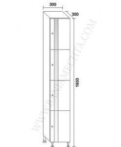 PVC колона за баня ФЛОРА