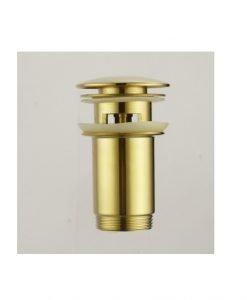 Клик сифон за мивка цвят златен с преливник IC S707G