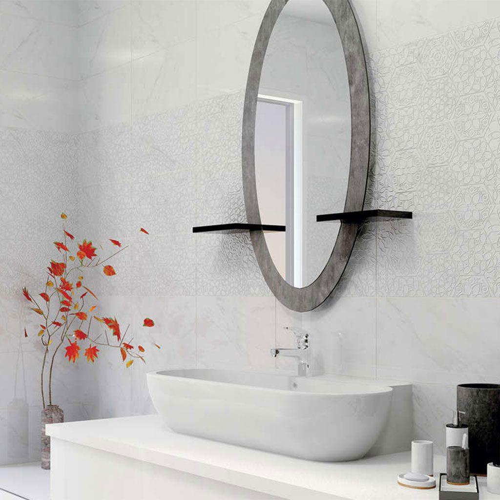Плочки за баня с мраморен ефект серия CARRARA