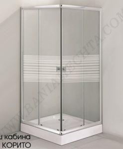 Квадратна душ кабина без корито ALBA 90х90 см