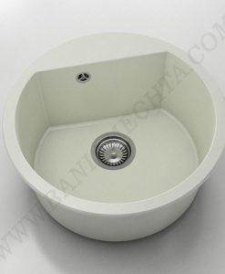 Кръгла кухненска мивка FAT AVANGARD 223 от полимермрамор