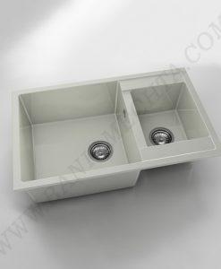 Кухненска мивка с две корита FAT AVANGARD 233 от полимермрамор