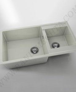 Кухненска мивка с две корита FAT AVANGARD 234 от полимермрамор