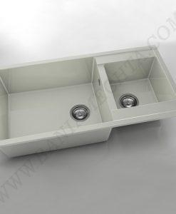 Кухненска мивка с две корита FAT AVANGARD 235 от полимермрамор