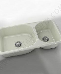 Кухненска мивка с две корита FAT CLASSIC 214 от полимермрамор_2