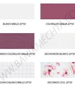 Плочки за баня серия COLORGLOSS MALVA 20*50