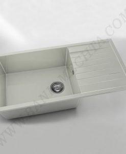 Kухненска мивка с ляв или десен плот FAT AVANGARD 230 от полимермрамор