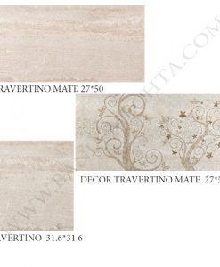 Плочки за баня TRAVERTINO MATE