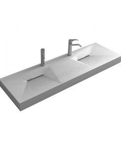Каменен двоен умивалник за стенен монтаж ICC 15046