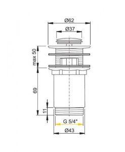 Клик сифон за мивка ALCAPLAST A391