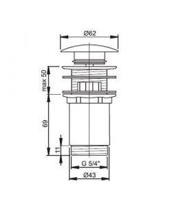 Клик сифон за мивка ALCAPLAST A392B