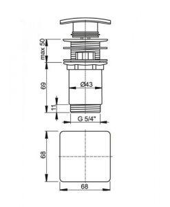 Клик сифон за мивка ALCAPLAST A393