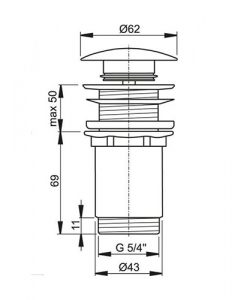 Клик сифон за мивка ALCAPLAST A395