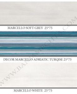 Плочки за баня серия MARCELLO GREY AND TURQISE