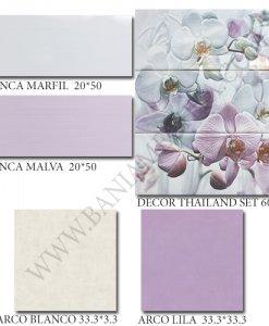 Плочки за баня в розово INCA MALVA
