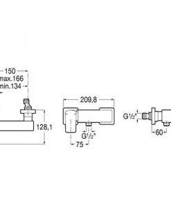 Смесител за душ ROCA L90 A5A2D01C00