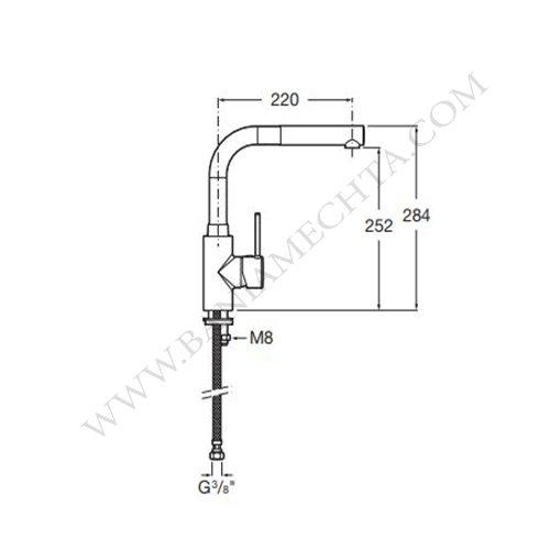 Смесител за кухня ROCA TARGA 5A8560C00