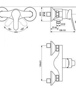 Стенен смесител за душ VIDIMA SCORPIO BC167AA