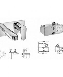 Вграден смесител за мивка ANARA ROCA A5A3A1BC0K