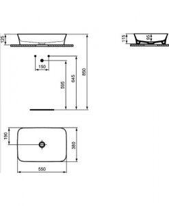 Мивка за монтаж в/у плот IPALYSS IDEAL STANDARD E139201