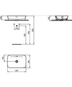 Мивка за монтаж в/у плот IPALYSS IDEAL STANDARD E139401