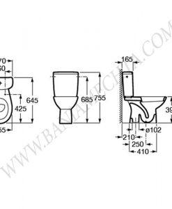 Моноблок със седалка Termoplast ADELE A34P195000