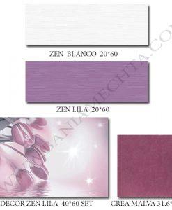 Плочки за баня в лилаво ZEN LILA