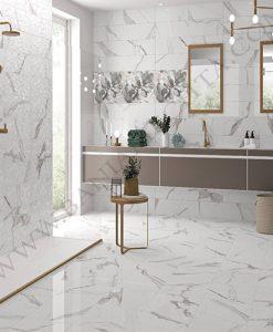 Плочки за баня имитация на мрамор Cavan calacatta