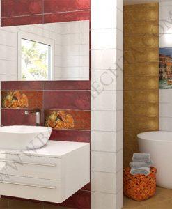 Плочки за баня MENORCA OCRE AND BURDEOS