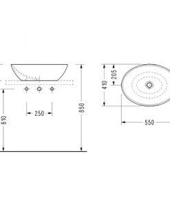 Порцеланов умивалник за монтаж в/у плот CH33