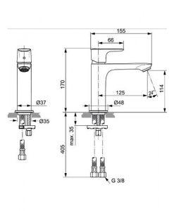 Смесител за мивка без изпразнител CONNECT AIR GRANDE A7015AA