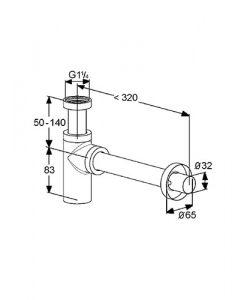 Дизайнерски сифон за мивка KLUDI 1002005-00