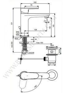 Смесител за умивалник студен старт TYRYA BC154AA ХРОМ