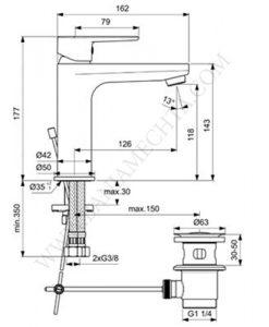 Смесител за умивалник TYRIA BC159AA ХРОМ