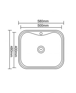Кухненска мивка алпака модел ICK 5848P