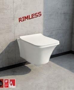 Конзолна тоалетна модел IMOLA RIMLESS с капак Soft close