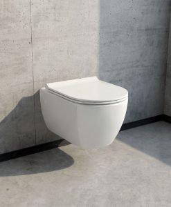 Конзолна тоалетна PIZA с биде и ултра тънък Soft Close капак