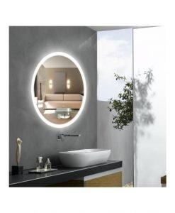 Овално LED огледало за баня модел Ема