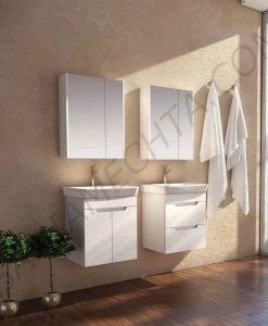 PVC шкаф за баня CASERTA 55см. с чекмеджета