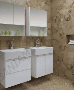 PVC шкаф за баня IBERIS 60см. с вратички