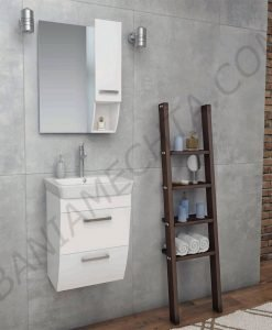 PVC шкаф за баня ROUND 60см. с чекмеджета
