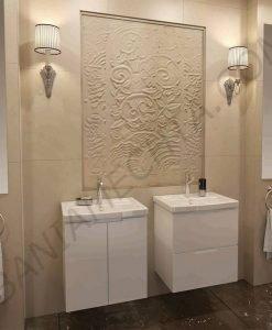 PVC шкаф за баня SOFT 57см. с вратички