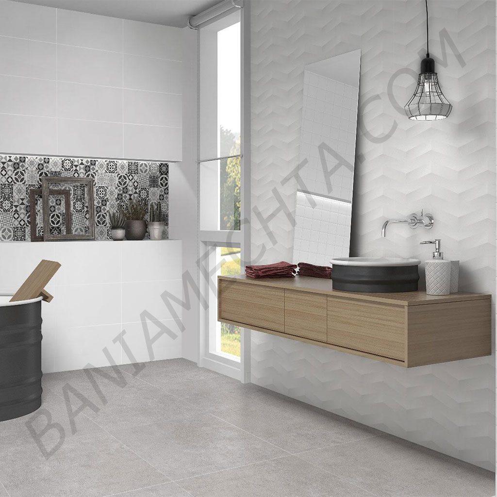 Испанска серия плочки за баня WHITE LUX