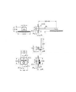 Комплект термостат за вграждане GROHE GROHTHERM SMARTCONTROL 34706000