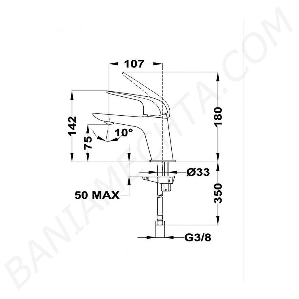 Смесител за мивка нисък ITACA TEKA Б.154.ХР