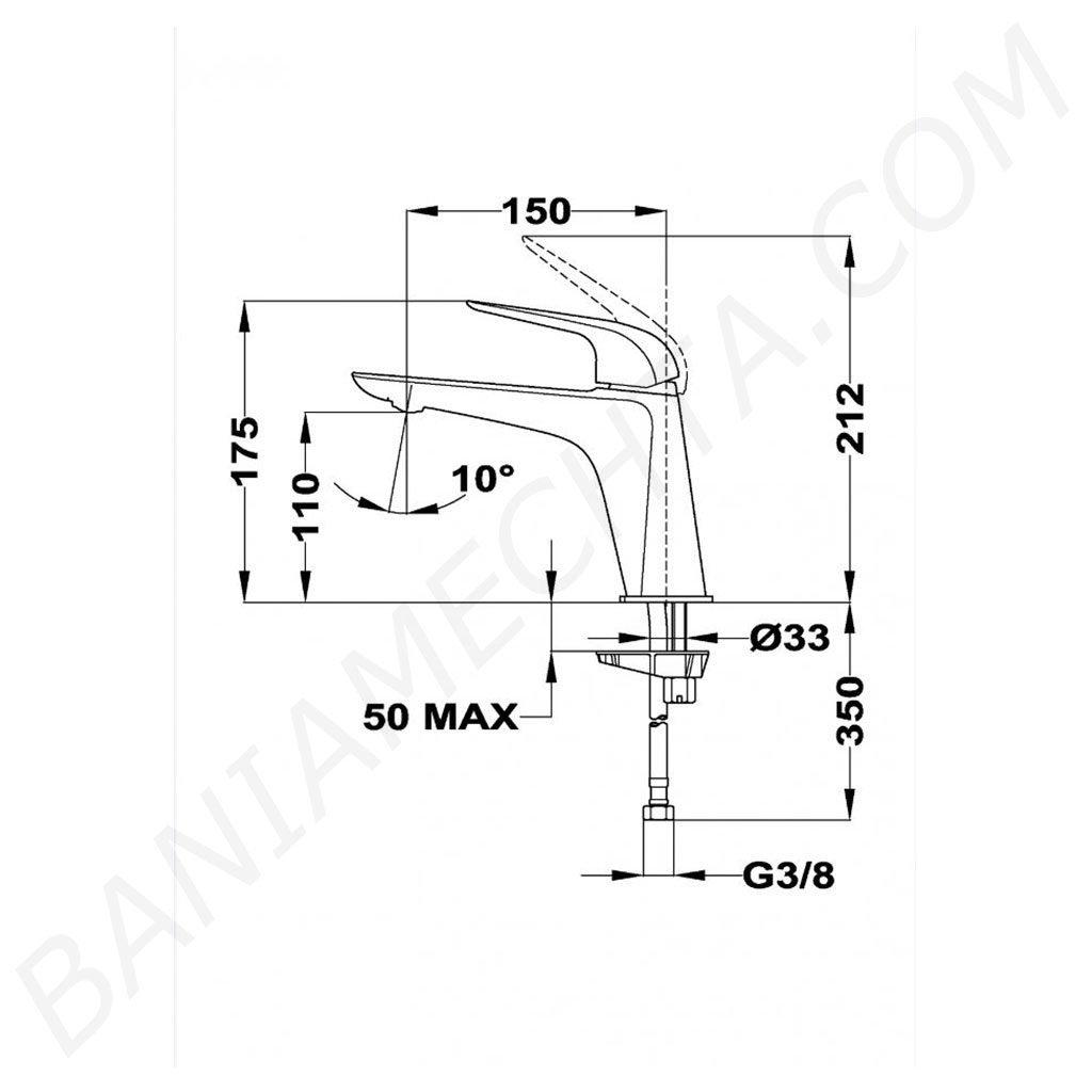 Смесител за мивка размер L модел ITACA TEKA Б.155.ХР