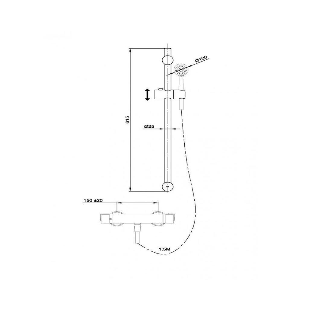 Термостатен душ комплект NEXOS TEKA Б.733.ХР