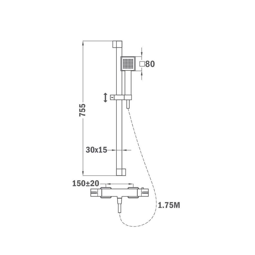 Термостатен душ комплект SOLLER TEKA Б.734.ХРОМ