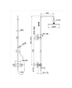 Термостатна душ колона NEXOS TEKA Б.720.ХР